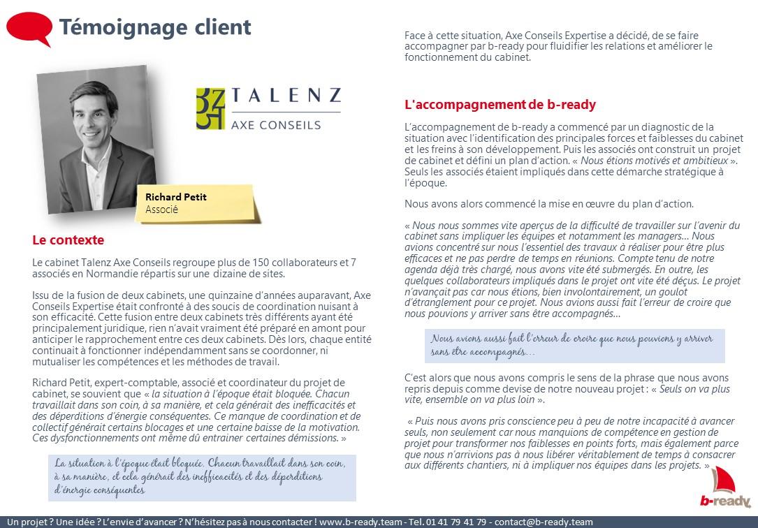 Témoignage client Axe Conseil