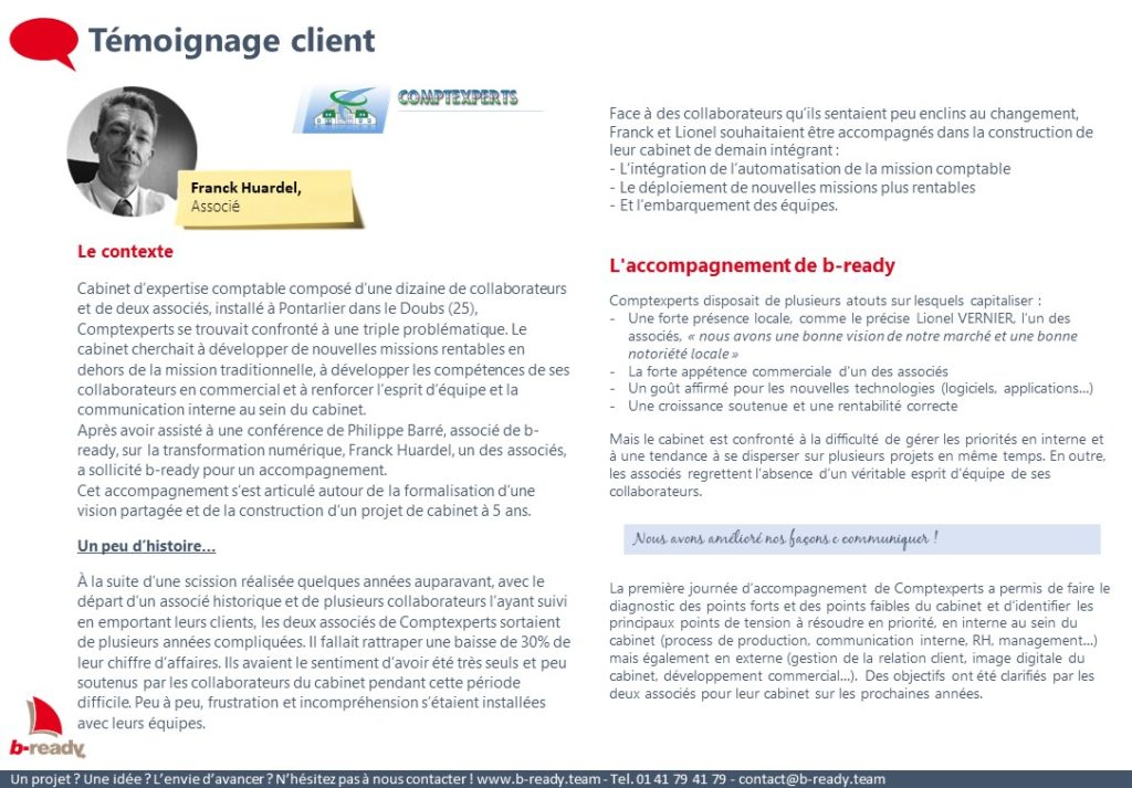 Témoignage client Comptexperts