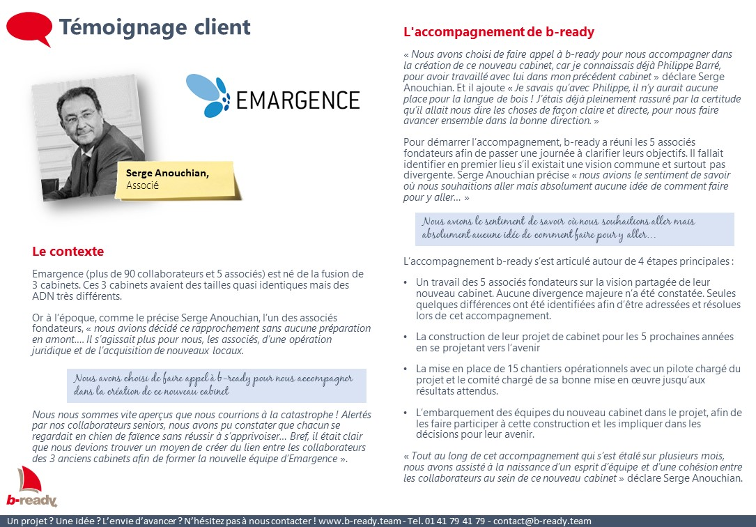 Témoignage client Emargence